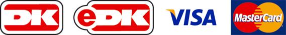 Nous acceptons le paiement avec Dankort, E-Dankort, Visa et Mastercard